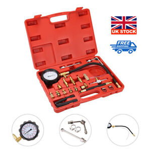 UK Fuel Pressure Meter Tester Oil Combustion Spraying Injection Gauge Tool Set