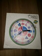 Teacher's Choice Educational Wall Clock | Silent Operation - Time (Silver)