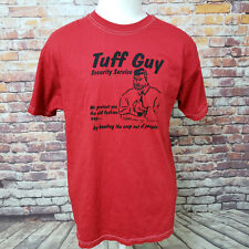 D & G DAVID & GOLIATH RED COTTON GRAPHIC TEE SHIRT SIZE L A63-22