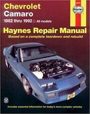 Haynes CHEVROLET CAMARO (82-92) IICO Z Z28 propriétaires Service Repair Manual Manuel