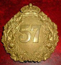 HELMET PLATES-ORIGINAL 1902 CANADIAN MILITIA 57th PETERBOROUGH RIFLES