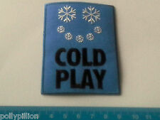PUNK ROCK HEAVY METAL MUSIC SEW ON / IRON ON PATCH:- COLD PLAY (a) SNOWFLAKES