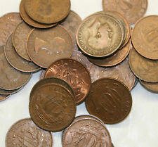 25 Half pennies Bulk lot British old coins