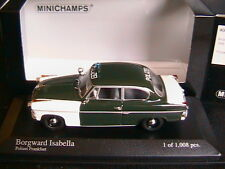 BORGWARD ISABELLA 1959 POLIZEI FRANKFURT MINICHAMPS 400096090 1/43 POLICE GERMAN
