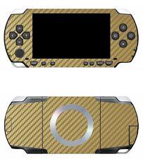 Golden Carbon Fiber Vinyl Decal Skin Sticker Cover for Sony PSP 1000
