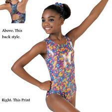 New Cotton Candy Pink Purple Blue Foil Dance Gymnastics Leotard Child or Adult