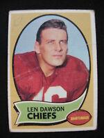 1970 Topps card of Len Dawson with the Chiefs card #1 football $1 S&H
