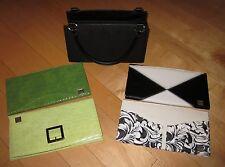 A Lot Miche Black Base Bag & 4 Shells Green Blacks White Satchel Purse