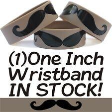 Mustache Wristband Moustache Bracelet Funny Wrist Band Humor Merchandise Item