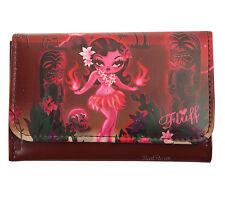 NEW Fluff Hawaii Island RED HULA Girl EXOTICA Accordion Flap Wallet Barjoud