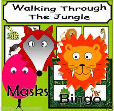 WALKING THROUGH THE JUNGLE teaching resources Story sack EYFS KS1 resource cd