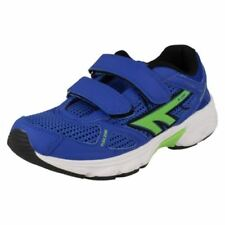 Boys' Sports Trainers Blue Shoes with Hook & Loop Fasteners