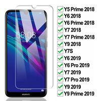 2X Premium Tempered Glass Screen Protector HUAWEI Y7 Pro Y5 Y9 2019 Y6 2018