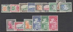 Zanzibar, Scott 249-263 (SG 358-372), MLH/HR