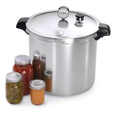 23-Quart Home Pressure Cooker Canner Safe Dial Gauge Vegetables Meats Poultry