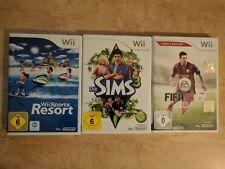 3 Wii Spiele, Sims3, Sport Resort, Fifa 15, Top!!!