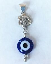 925 STERLING SILVER PENDANT HANDCRAFTED  WITH EVEL EYE STONE