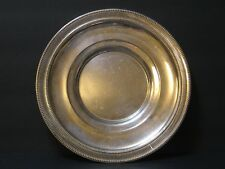 "Antique Watrous Sterling Silver 10"" Plate 244 Grams Beaded Reticulated Rim, PH66"