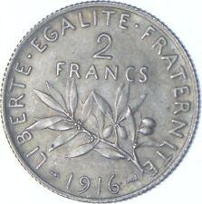 Better Date - 1916 France 2 Francs - SILVER *225