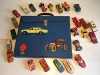 Matchbox Sammlung Konvolut im Koffer mit 24 Modellen  , alle Bespielt Retro