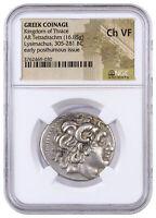 Greek Kingdom Thrace Silver Tetradrachm Posthumous Lysimachus NGC Ch VF SKU42212