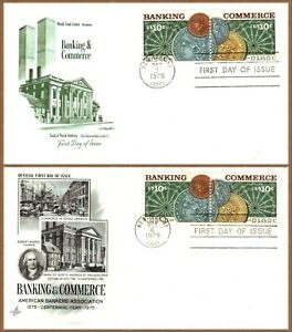 FDC US #1577-1578 Banking Commerce