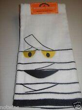 Happy Halloween Midnight Market Hand Towel Mummy Ghost EEK NWT