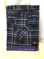 BILL BLASS Cotton Flannel PJs PAJAMAS Set Blue Olive Plaid Mens size XL NWT  NEW