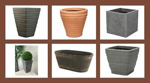 Large Outdoor Plant Pots / Containers Huge Choice Lightweight & Shatterproof!