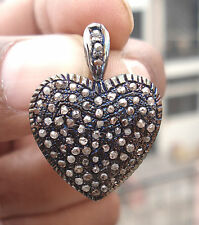 Victorian 1.52ct Rose Cut Diamond Heart Shape Valentine Gift Wedding Pendant