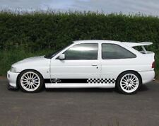 2x Decal sticker stripe kit For Ford Escort rs cosworth door mirror body lowered