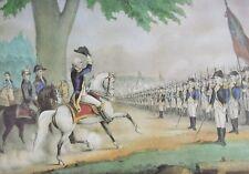 Currier & Ives VTG Art Full Color Plate Washington Army Declaration Independence