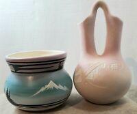 Vintage Navajo Pottery Vase and Wedding Vase  Jones and Other