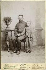 Atelier A. Stepanoff Lublin et Nałęczów 1901-Ojciec i syn Kabinettfoto
