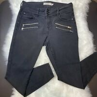 "Torrid Women's Black Denim Zippered Jeggings Jeans Size 14R Skinny 28.5"" Inseam"