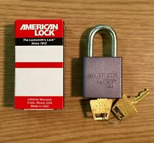 "American Lock Padlock A10 Series 2 Keys 1-3/4"" Wide Aluminum Alloy Body USA Made"