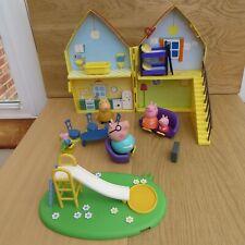 PEPPA PIG HOUSE PARK SLIDE 5 FIGURES TOY PLAY BUNDLE PLAY SET AS PER PHOTOS