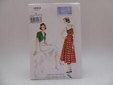 Vogue 8812 V8812, Vintage Model Orig 1940 Design, Dress/Belt/Bolero Sz 14-22 OOP