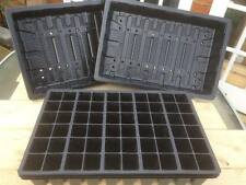 10 x FULL SIZE SEED TRAYS + 10 x 60 CELL SEED TRAY INSERTS