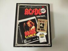 AC/DC Fan Pack Rock Band Track Pack DVD T-Shirt PlayStation 3 PS3 Game