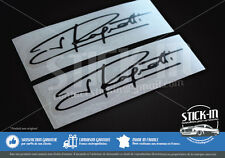 2 Autocollants Stickers Signature Jean Ragnotti 100x26mm Clio Cup 172 182 rallye