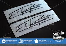 2 Autocollants Stickers Signature Jean Ragnotti 100x26mm Clio Cup 172 182 rallye