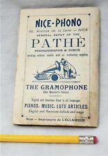 RARE 1911 VICTOR PATHE PHONOGRAPH GRAMOPHONE 78 RPM RECORD PLAYER EPHEMERA MAP