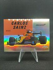 Carlos Sainz 2020 Topps Chrome Formula 1 World on Wheels Card #54W-32 NM/MINT