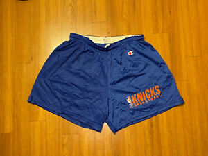 Vintage Champion New York Knicks Mesh Basketball Shorts Adult XL 40-42 NBA