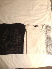 2x Tshirts noir Judas Sinned & blanc LOVE MOSCHINO XXL