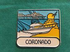Coronado Island Rubber Fridge Magnet Travel Souvenir San Diego Sailboat