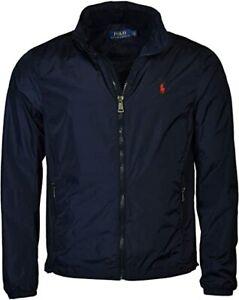 Polo Ralph Lauren Retford Windbreaker Jacket Packable Hoody Navy blue zip S 3XL