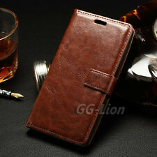 Brown Flip Card Slot Leather Wallet Case Cover for LG G Flex 2, H950 LS996 H955