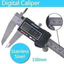 150mm 6inch Portable Digital Electronic Gauge Vernier Caliper Micrometer Tool Us
